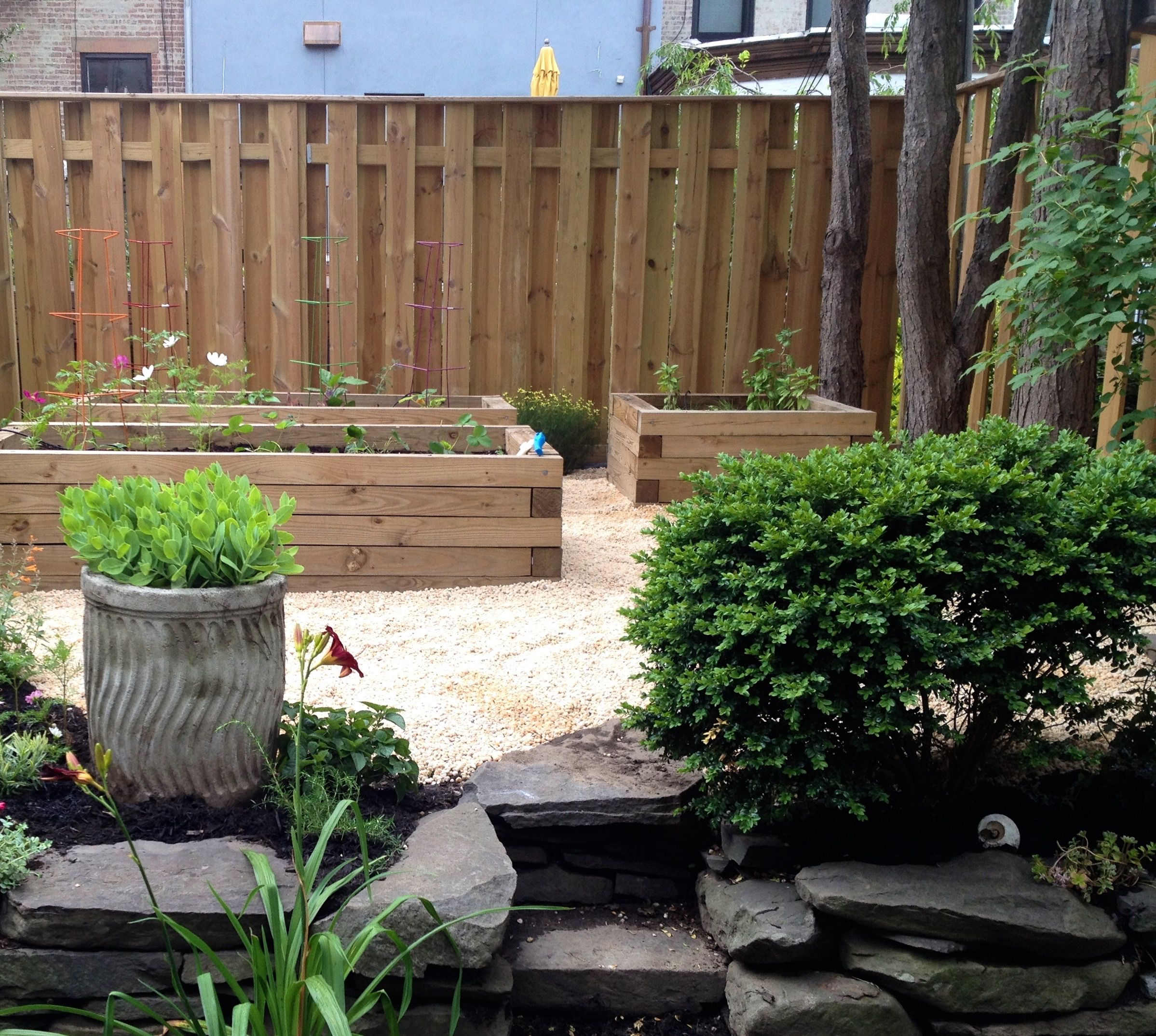 Raised Beds Made Out 4x4, Strong Enough To Jump And Play