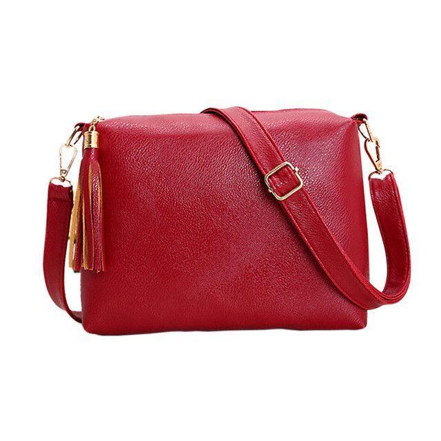 1c089be670f4 Hot-sale designer Women High-end PU Leather Handbag Newest Crossbody Bag  Tassel Shoulder Bag Online