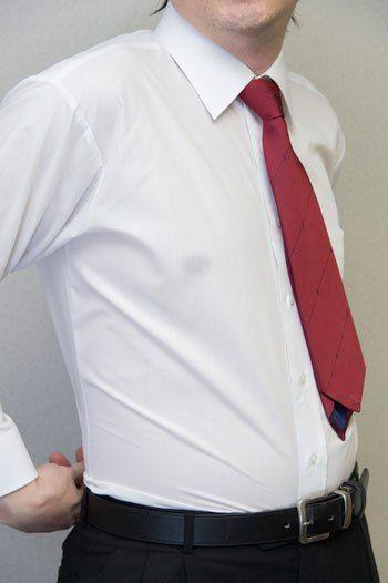 White see through dress shirt