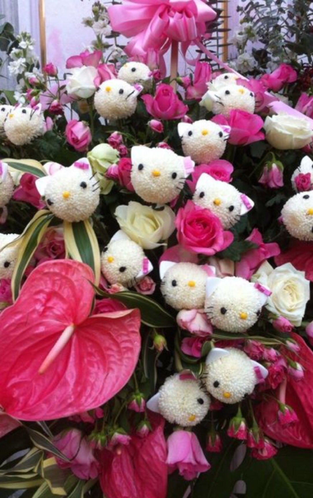 Pin De Valeria Angeles En Hello Kitty Arreglos Florales