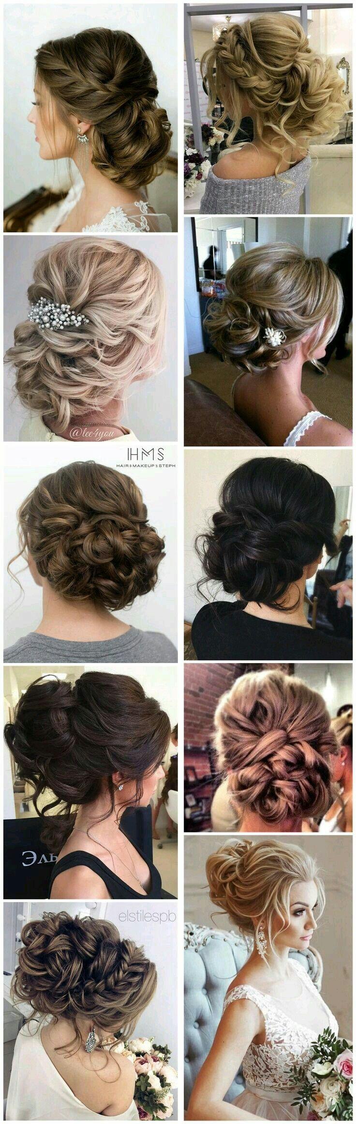 romantic updo. hairstyles. bridal hair.
