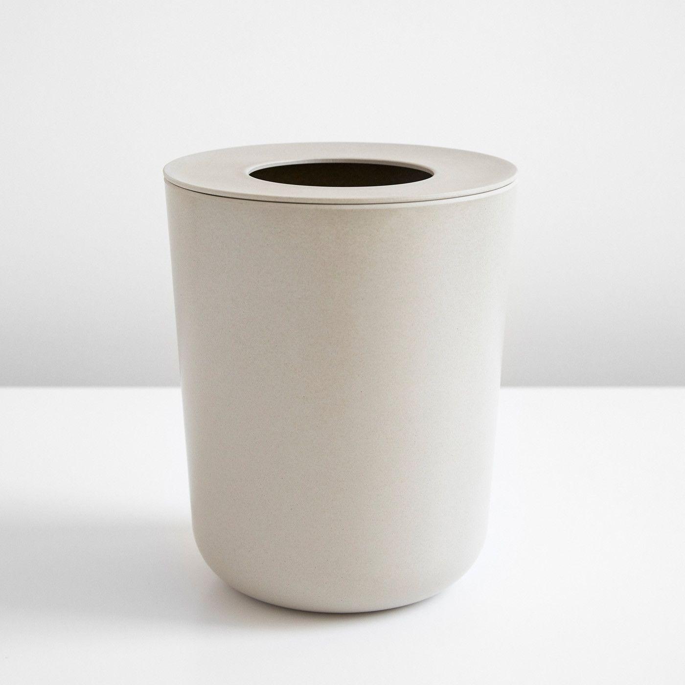 Ekobo Stone Waste Bin Bathroom, Modern Bathroom Wastebasket