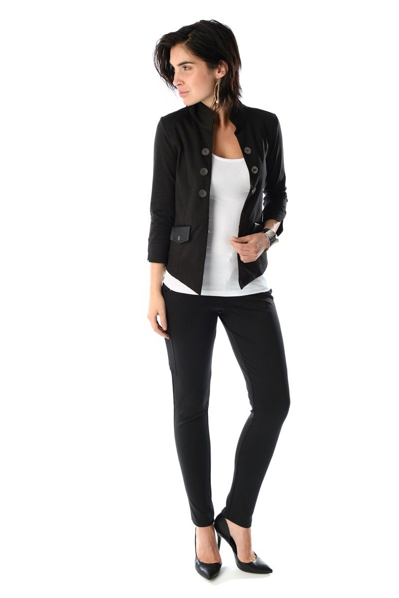 Off white flannel coat  SALOME  Black  Fashion  Pinterest  Black and Fashion