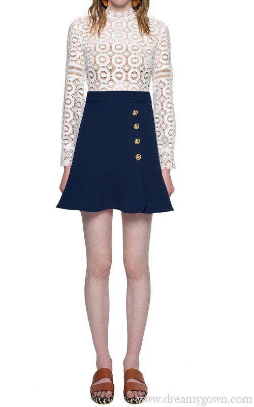 0803442ce Self Portrait Crochet Lace A-line Mini Dress | Self Portrait ...
