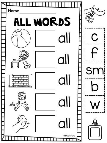 Double Consonants ff ll ss zz Worksheets \ Activities {NO PREP - phonics worksheet
