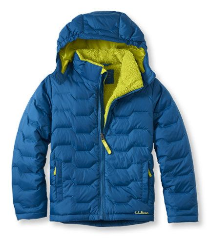 Kids' Boys' Bean's Fleece-Lined Down Jacket | Free Shipping at ...