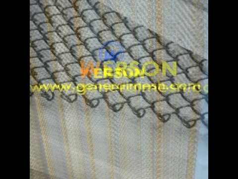Fireplace Wire Mesh Curtain Stainless Steel Fireplace Mesh Screen