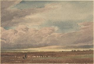 Turner, William of Oxford (1789-1862) - Salisbury Plain with Old Sarum in the Distance, Wiltshire