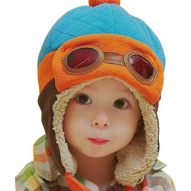 Toddlers Cool Baby Boy Girl Kids Infant Winter Pilot Aviator Warm Cap Hat  Beanie Ear Flap 06ea8b8ce3d1
