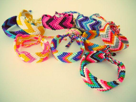 Friendship Bracelets Thick Woven Style