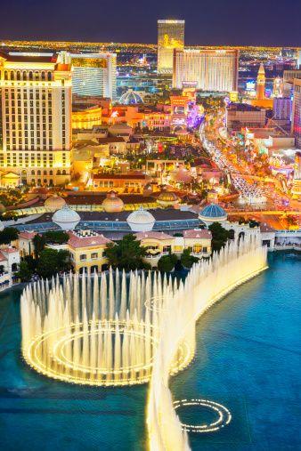 at Vegas night girls strip