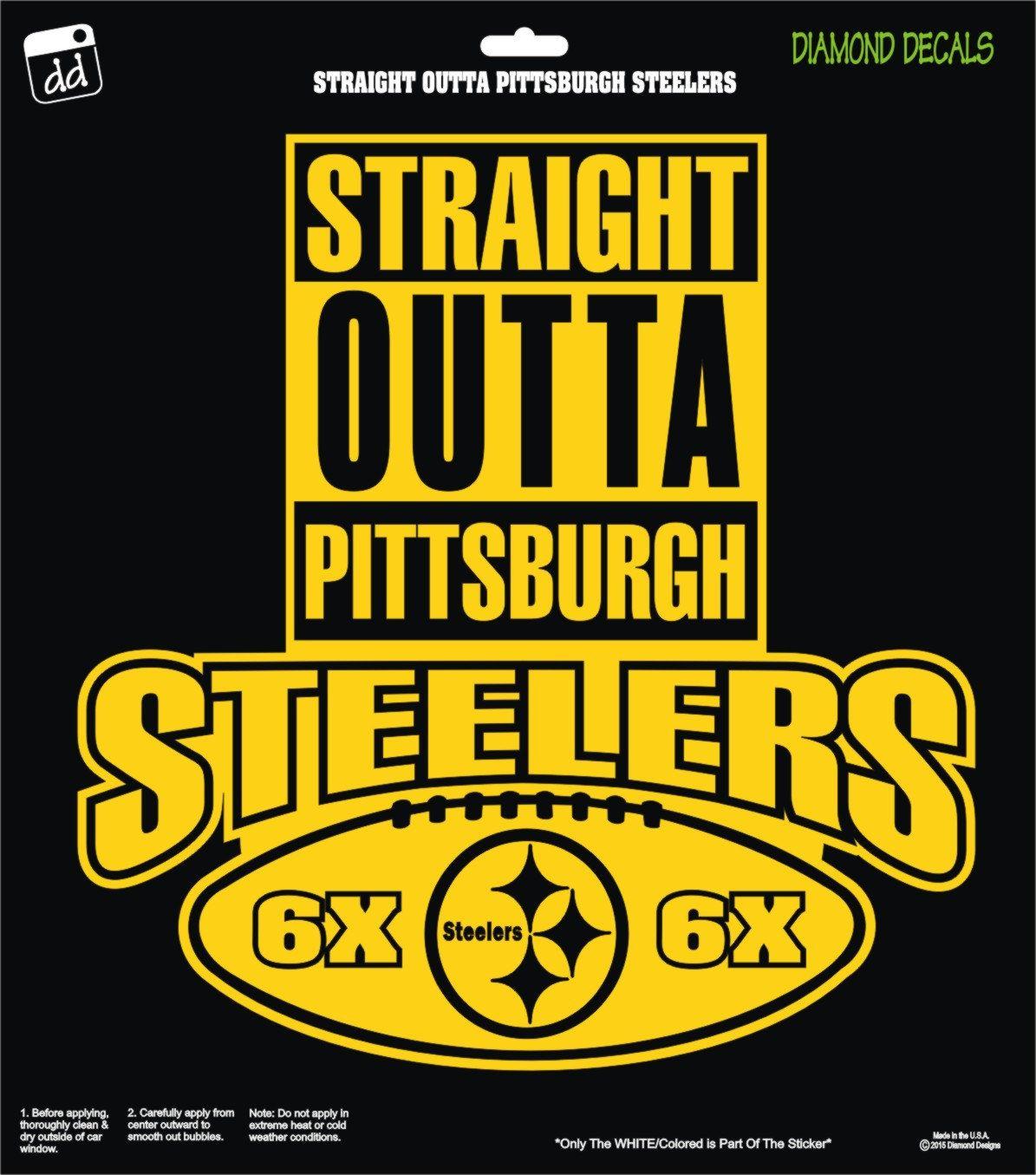 Straight Outta Pittsburgh Steelers Nfl Football Logo Decal Vinyl Sticker Car Truck Window Lapto Pittsburgh Steelers Nfl Football Logos Pittsburgh Steelers Logo [ 1355 x 1195 Pixel ]