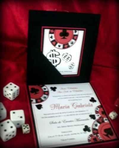 Tarjetasde Invitacion De 15 Años Casino Las Vegas 7 15s