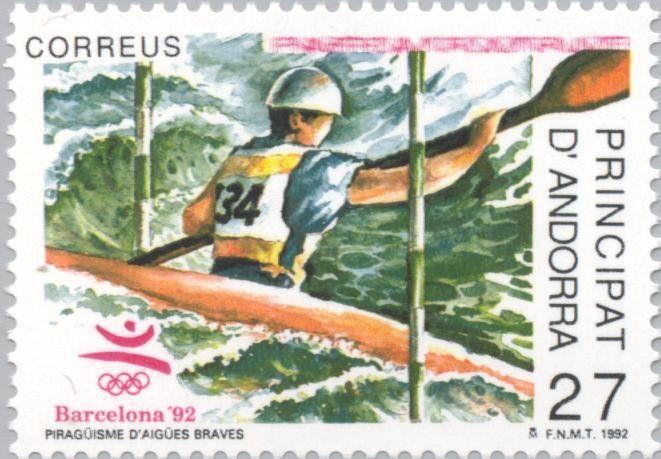 Stamp: Olympic Games- Barcelona (Andorra, Spanish Administration) (Summer Olympics 1992, Barcelona) Mi:AD-ES 228,Sn:AD-ES 219,Yt:AD-ES 218,Sg:AD-ES 229,Edi:AD-ES 232