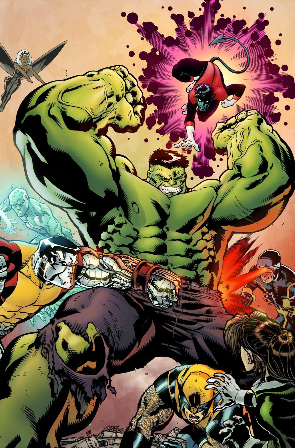 Hulk Vs Xmen Hulk Artwork Hulk Art Marvel Art