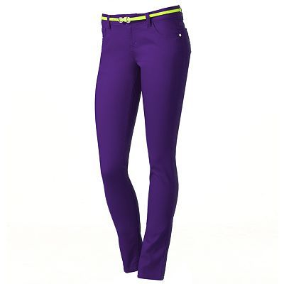 Tinseltown Color Skinny Jeans (purple)