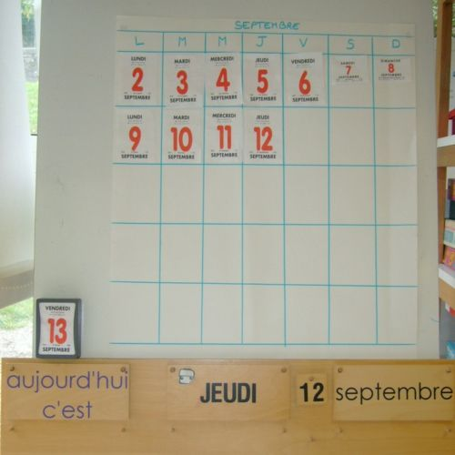 Rituels Rituels Affichage Maternelle Et Calendrier