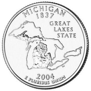 Statehood  US Quarter 2004-P  BU Mint State MICHIGAN