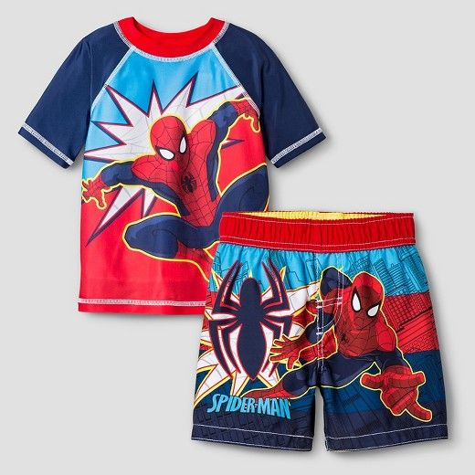 705c021b4d Toddler Boys' Spiderman® Rash Guard & Trunk Collection : Target | 4t ...