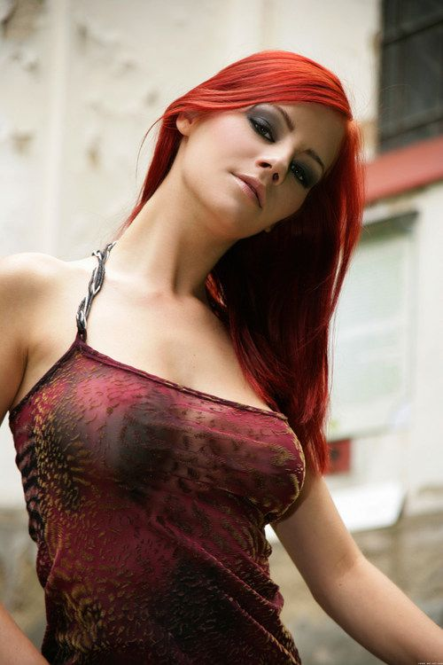 Redhead adult actress