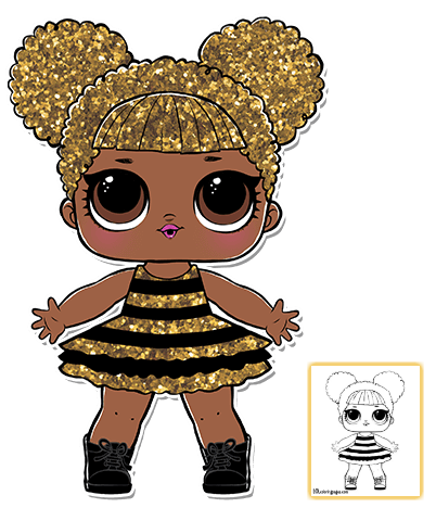 Download Print Name Queen Bee Quote What S The Buzz Honey Club Glitterati Rarity Rare Series 1 Lol Dolls Doll Party Lol