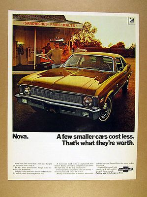 1970 chevrolet #chevy nova 307 v8 coupe #bronze car photo vintage #print ad,  View more on the LINK: 	http://www.zeppy.io/product/gb/2/361515328540/