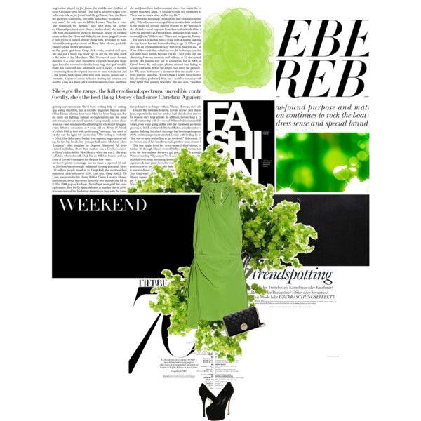 Green, created by #thedarkstorm on #polyvore. #moda #style Vanessa Bruno Giuseppe Zanotti