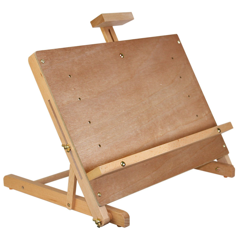 US Art Supply MINI Wood Studio Adjustable Artist H-Frame Table Easel Painting