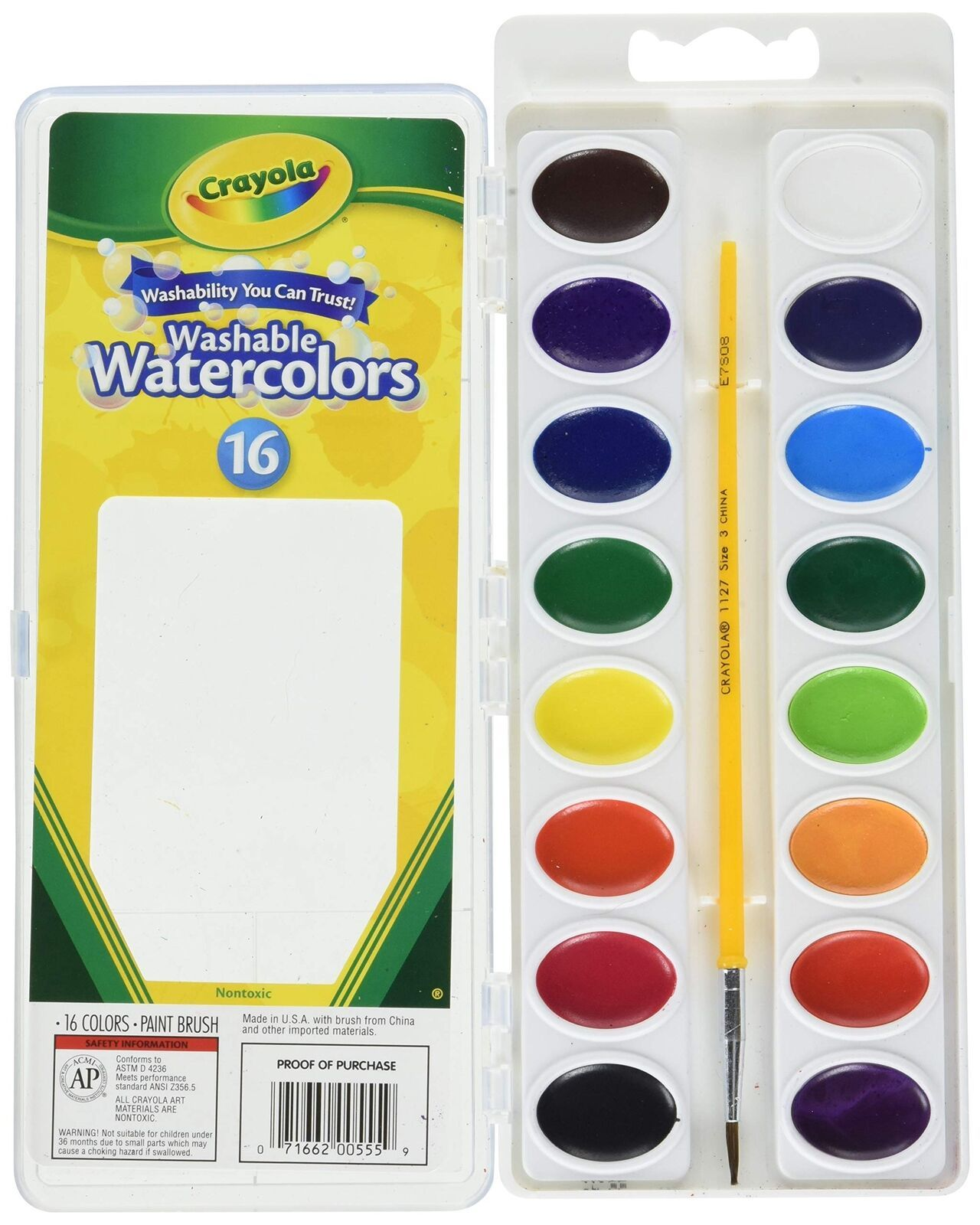 New Crayola Crayola Washable Watercolors 16 Count Pack Of 2 Total