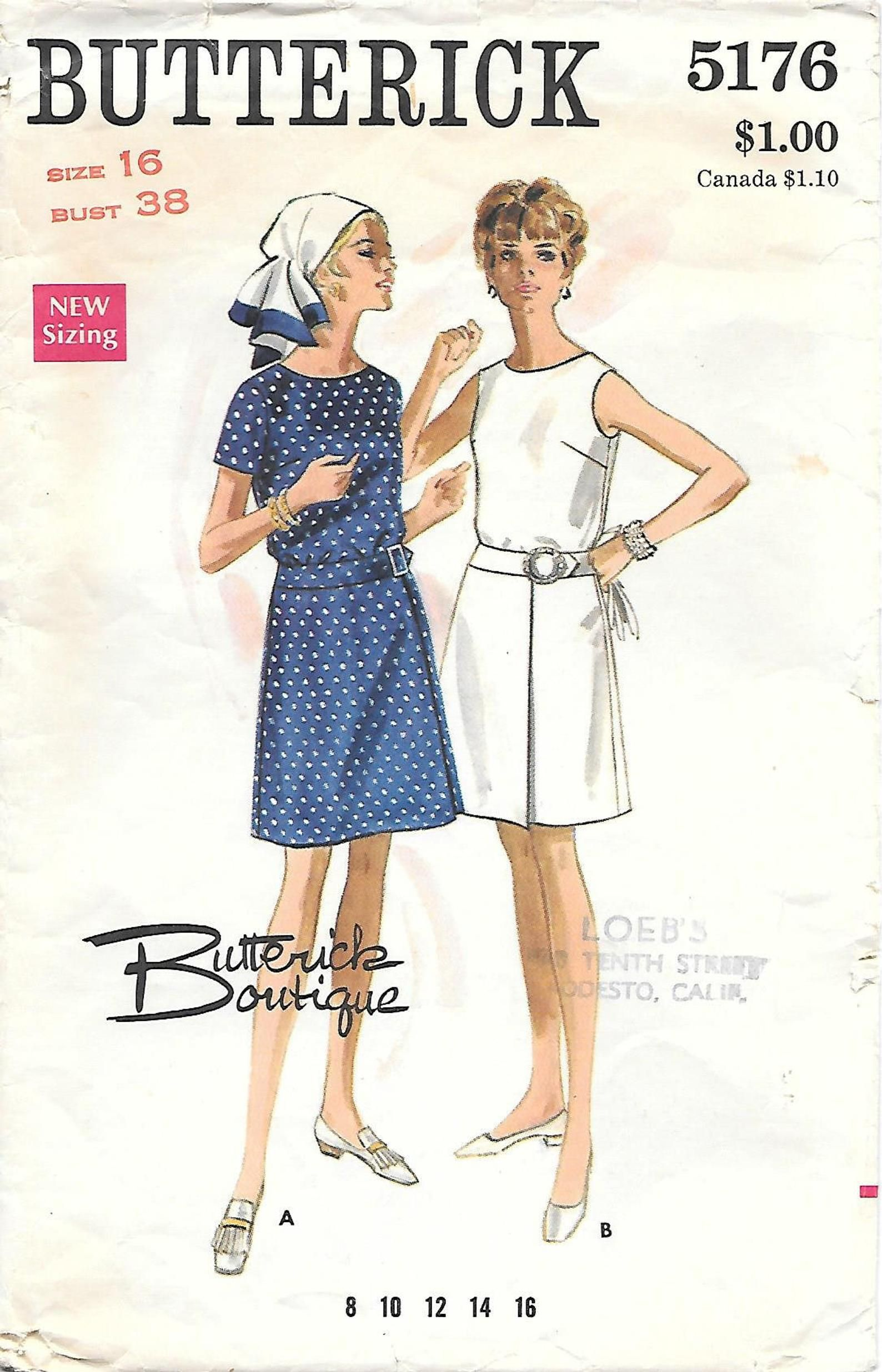 1970s Butterick 5176 Misses A Line Dress With Blouson Bodice Etsy In 2020 One Piece Dress Costume Sewing Patterns Vintage Outfits