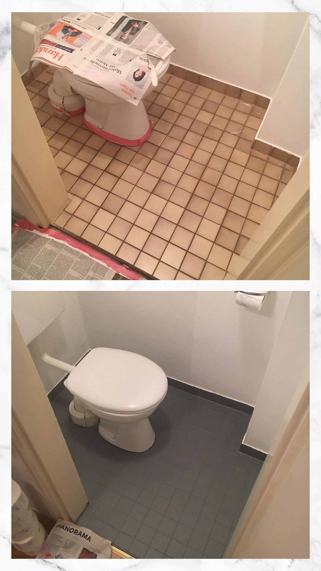 Fliesen Streichen Mit Kreidefarbe Fliesenstreichen In 2020 Fliesen Streichen Badezimmer Renovieren Badezimmer Streichen