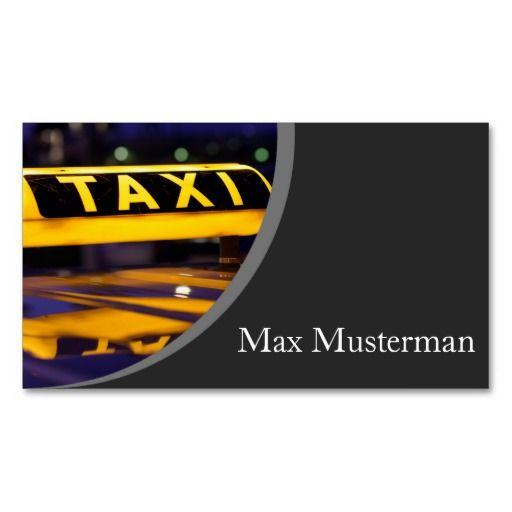 Taxifahrer Visitenkarten Visitenkarte Zazzle De