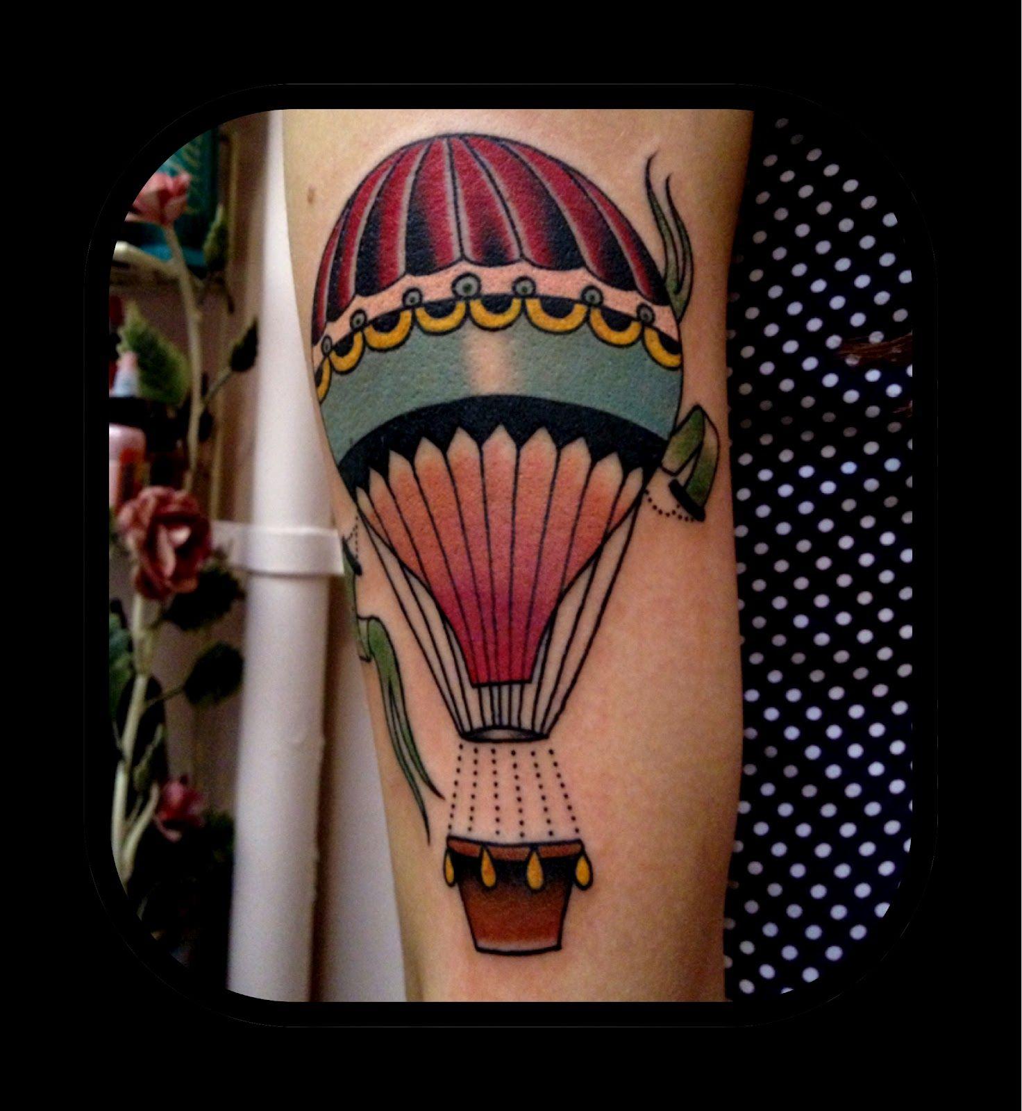 32+ Astonishing Hot air balloon tattoo sleeve image HD