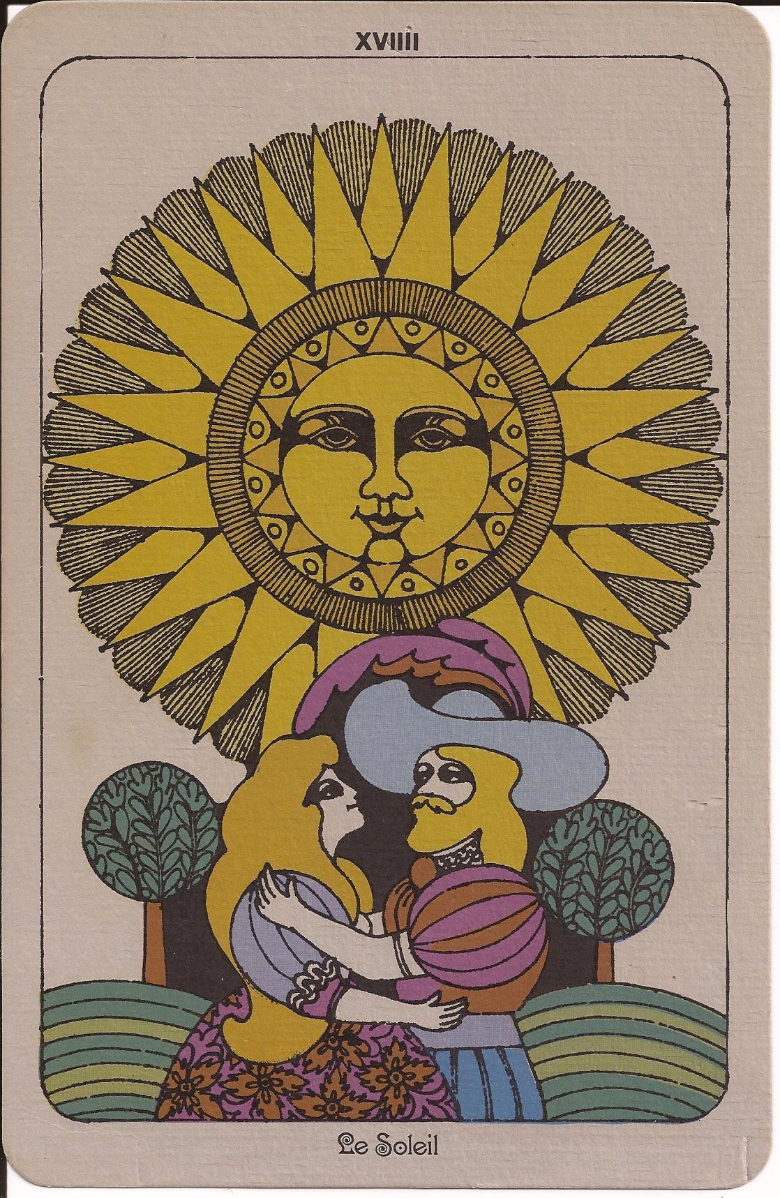 1960s tarot card tarot cards art the sun tarot card