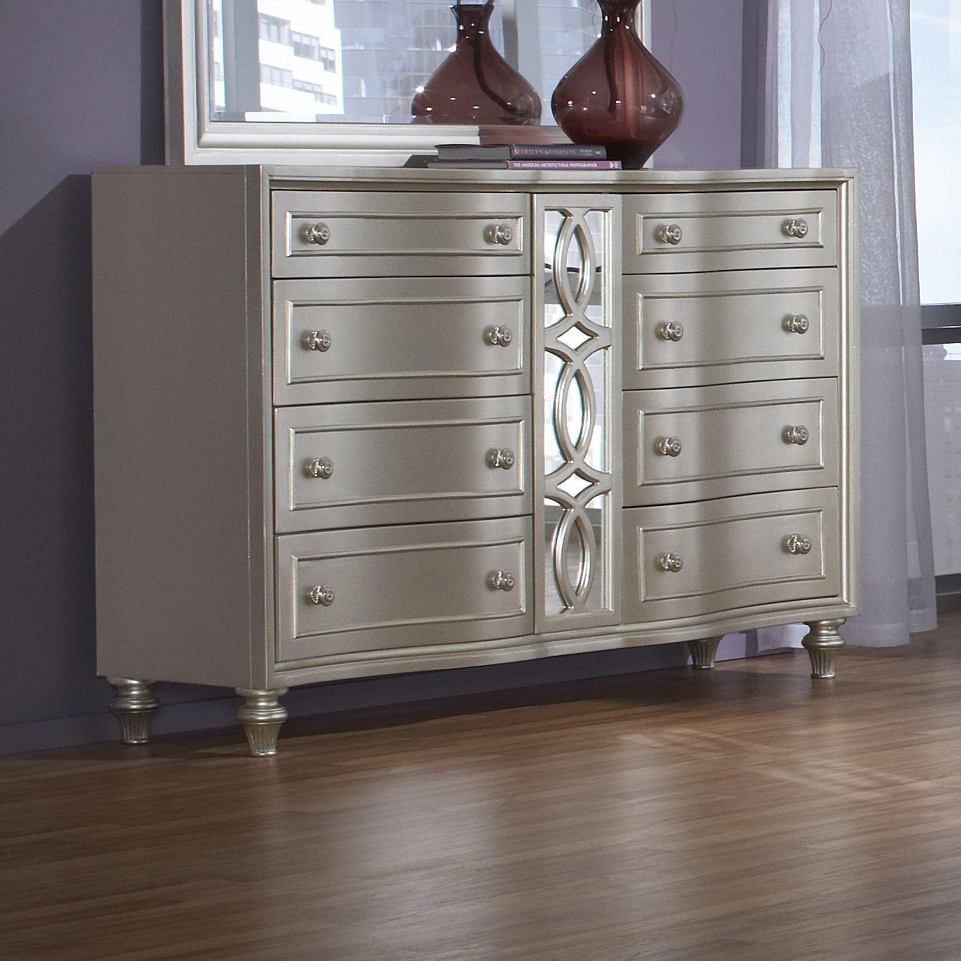 avalon furniture regency park 8 drawer dresser reviews wayfair silver platinum furniture. Black Bedroom Furniture Sets. Home Design Ideas