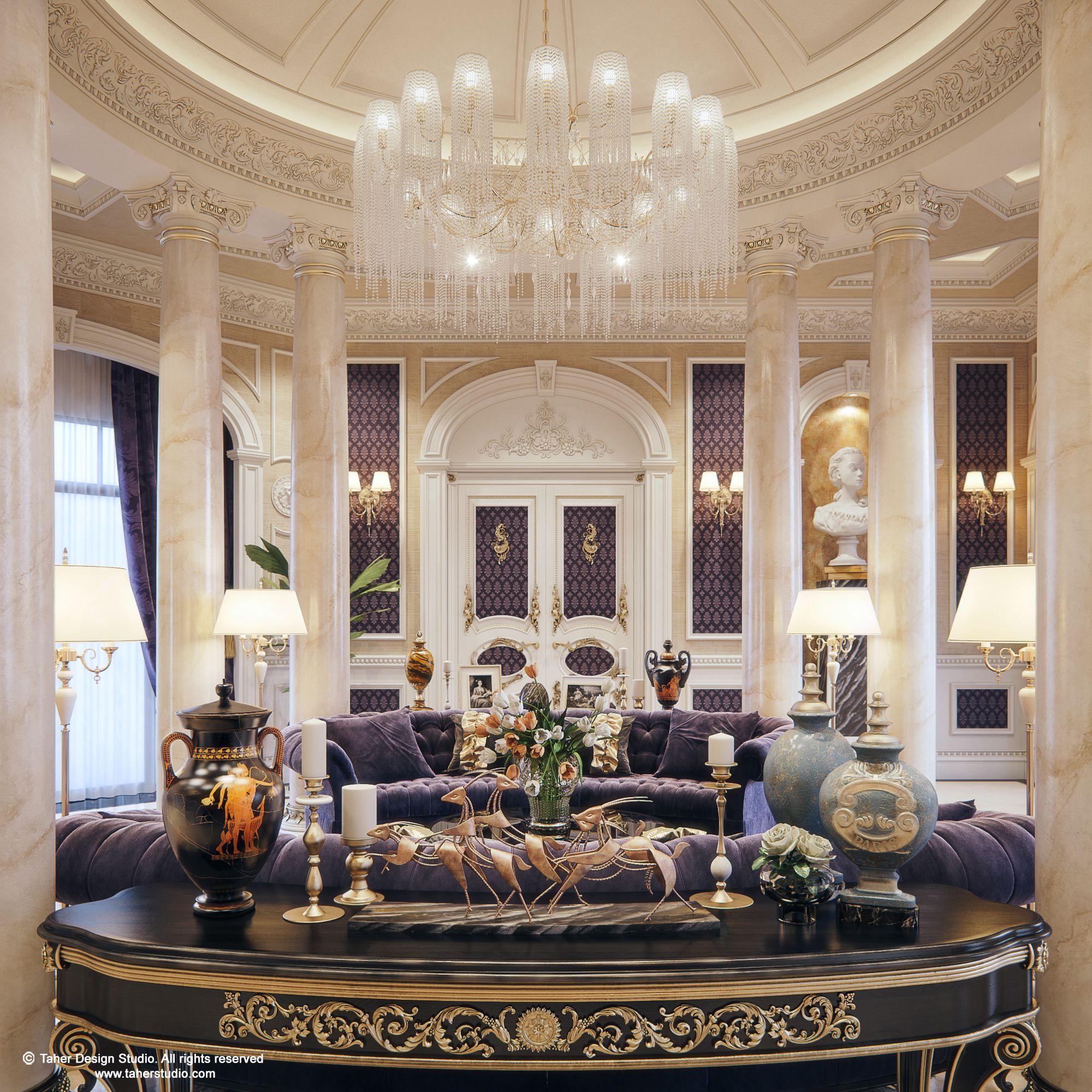 """Home Interior Design Ideas Hyderabad: Luxury Mansion Interior """" Qatar """""""