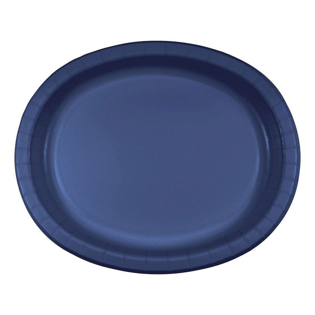 Navy 10 x 12 Oval Paper Platters/Case of 96