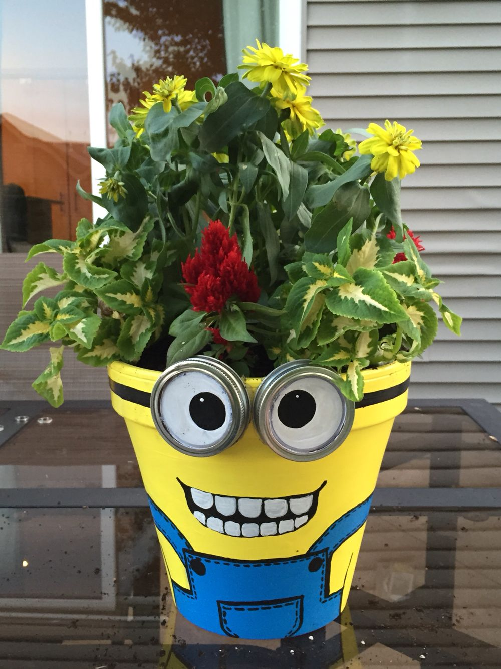 Minion planter dalula pinterest macetas vasos y - Maceteros de plastico ...