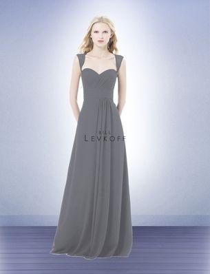 Pewter color bridesmaids dress
