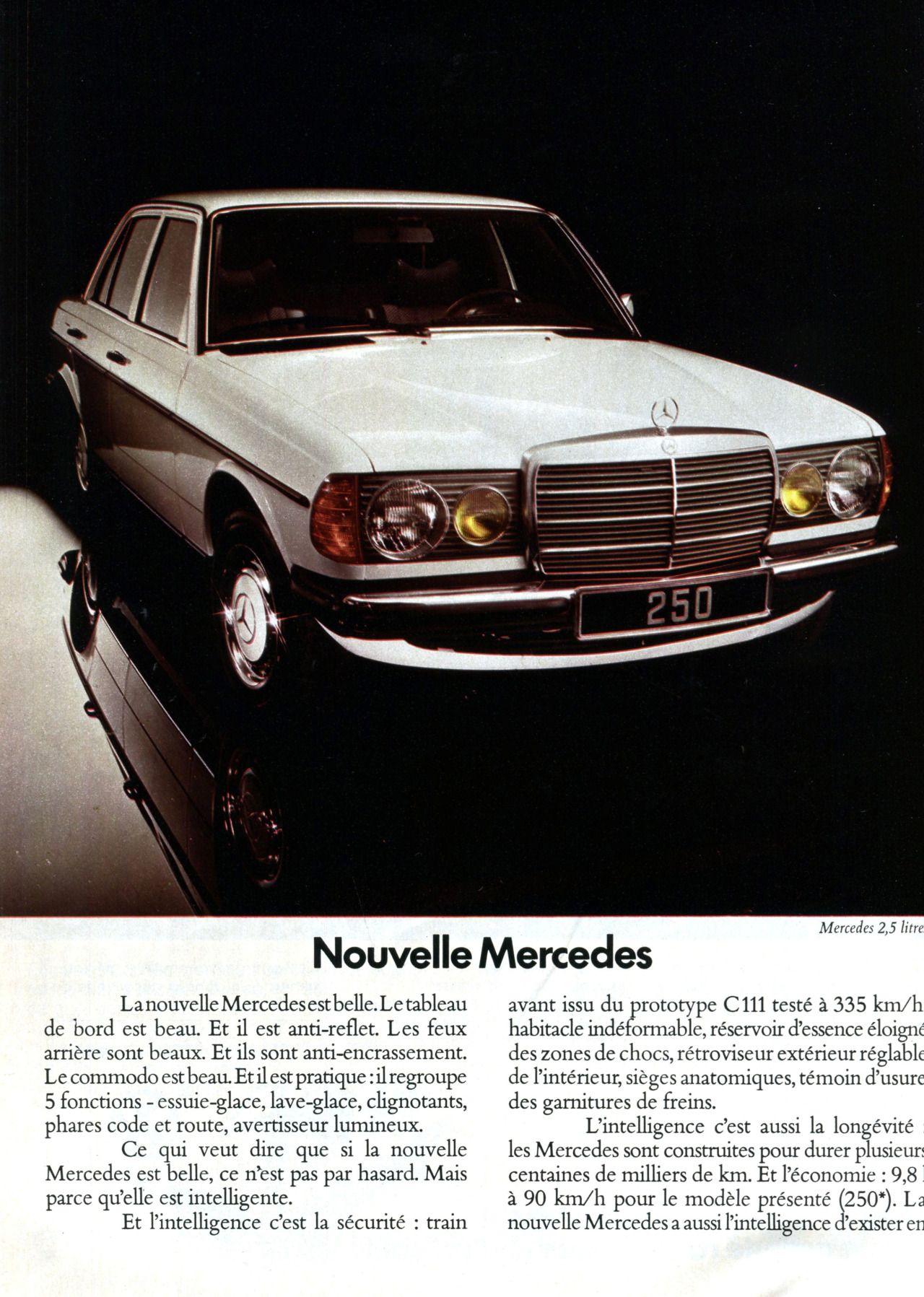 Publicité Mercedes L Automobile avril 1976 car ads
