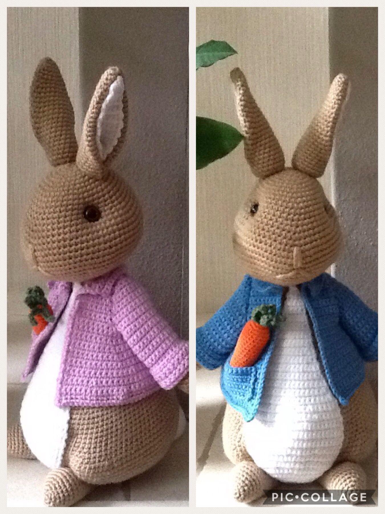 Mijn 3e Peter Rabbit (paashaas)  Handmade by Marja Post