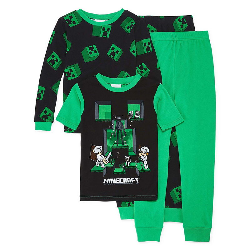 184d2deea3bf9 4-pc. Minecraft Pajama Set Preschool Boys | Products in 2019 | Long ...