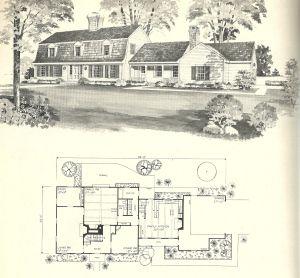 Vintage House Plans Gambrel Roof 1970s Vintage House Plans Gambrel Roof Vintage House