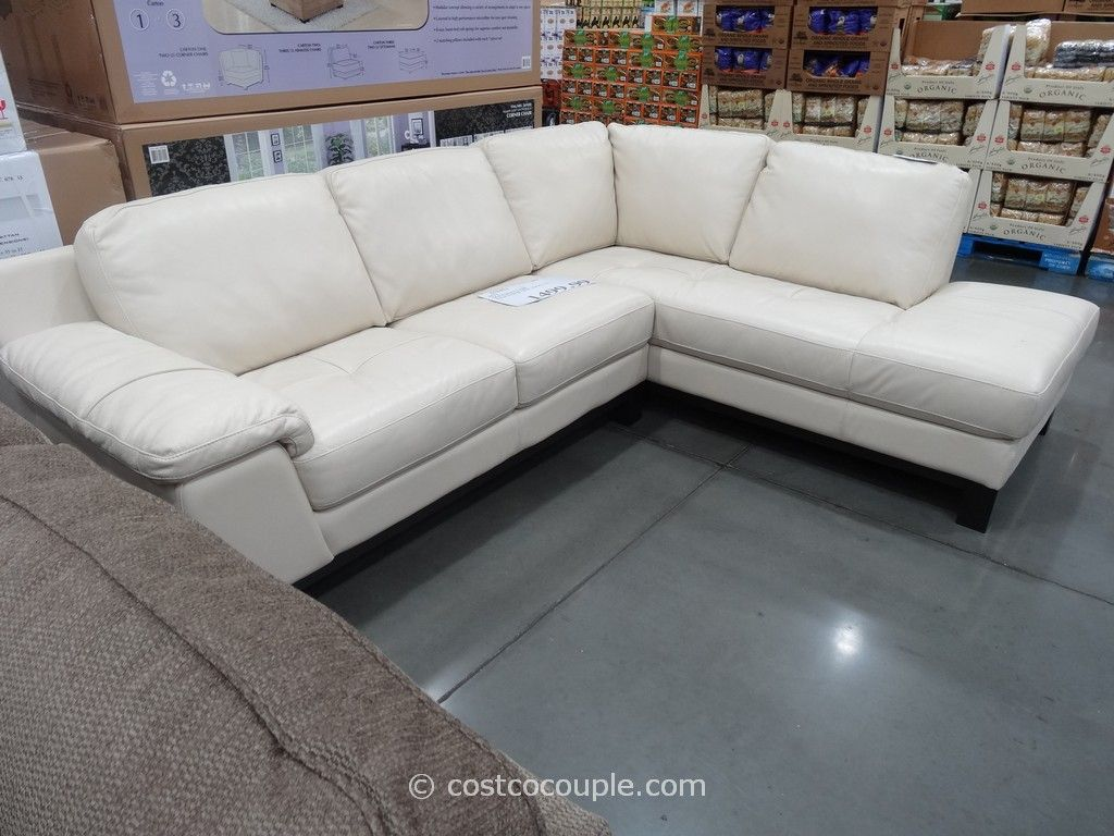 Htl Manhattan Leather Sectional Costco Furniture Expand Sofa Set
