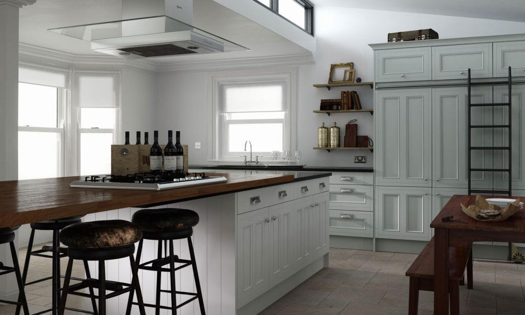 wren kitchens linda barker collection - country kitchen in sea