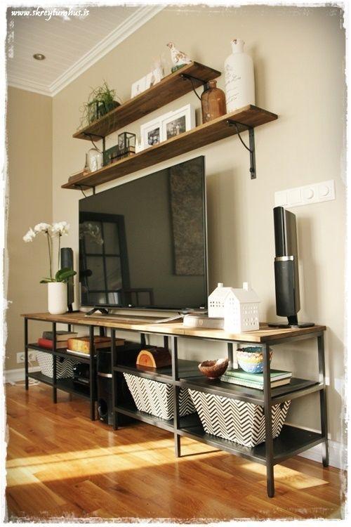 vittsj ikea hack hillur og bor skreytumh loft pinterest wohnzimmer haus und m bel. Black Bedroom Furniture Sets. Home Design Ideas