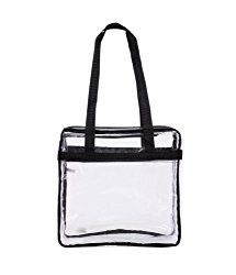"d17934457e61 NFL   PGA Compliant Clear Stadium Security Zippered Shoulder Bag Travel    Gym Tote By Bags For Less – Sturdy PVC Construction– 12"" X 12"" X 6""G –  Color ..."
