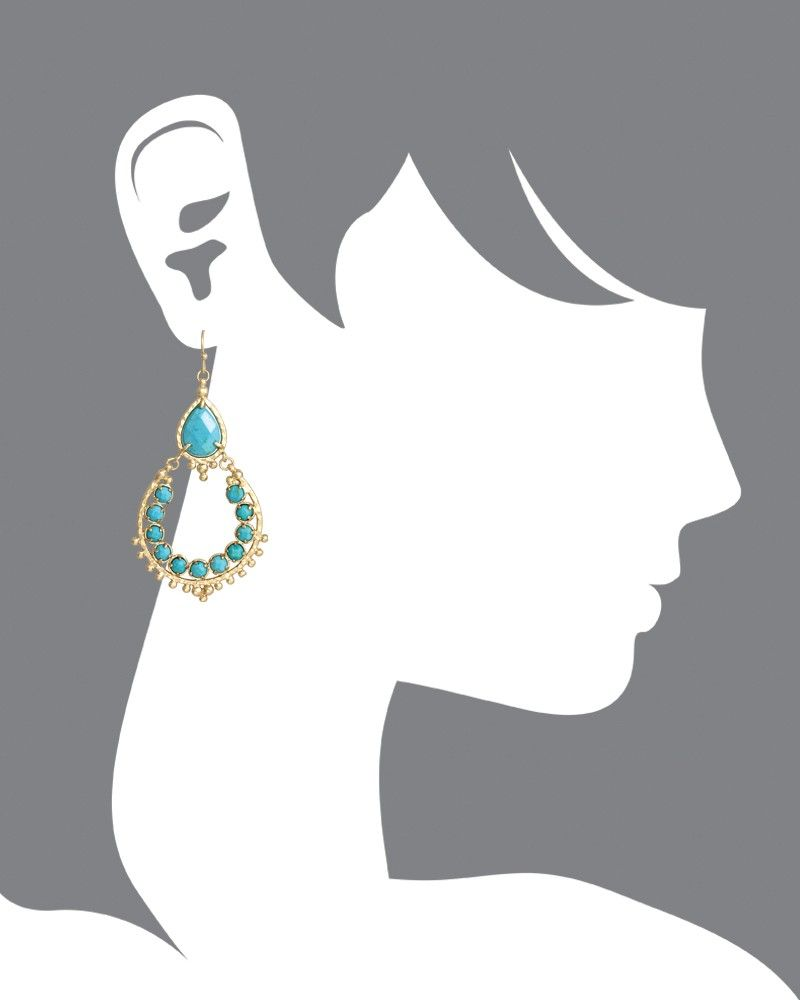 Gaia earrings in turquoise kendra scott jewelry fashion