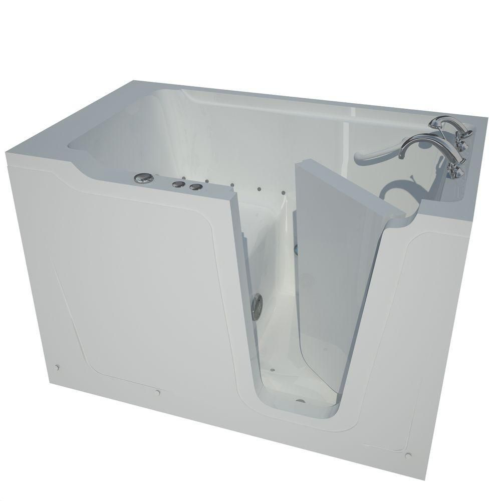 Universal Tubs Nova Heated 5 Ft Walk In Air Jetted Tub In White