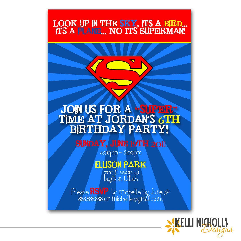 via etsy superman birthday party